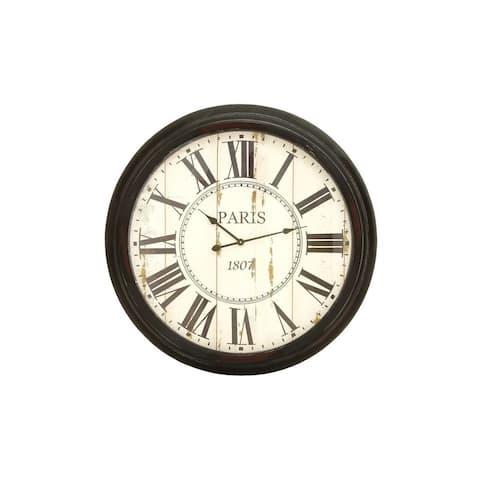 Metal 37-inch Wall Clock