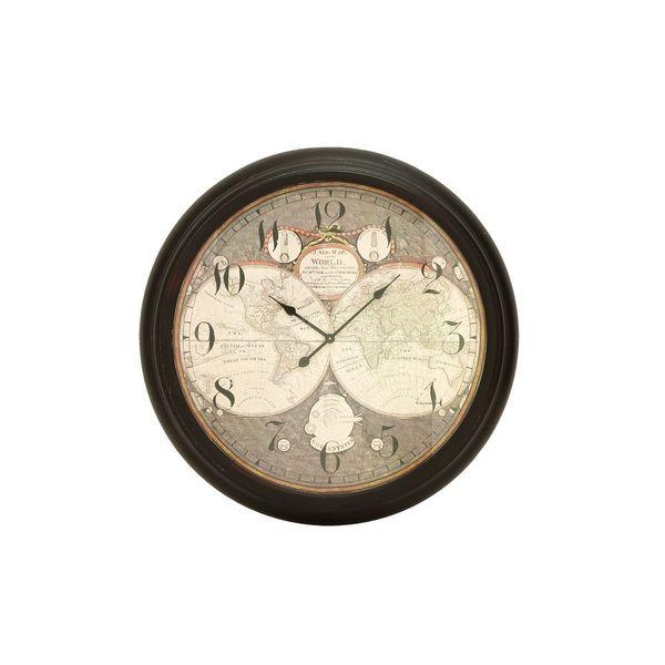 Bronze-finish Iron 37-inches Diameter Wall Clock