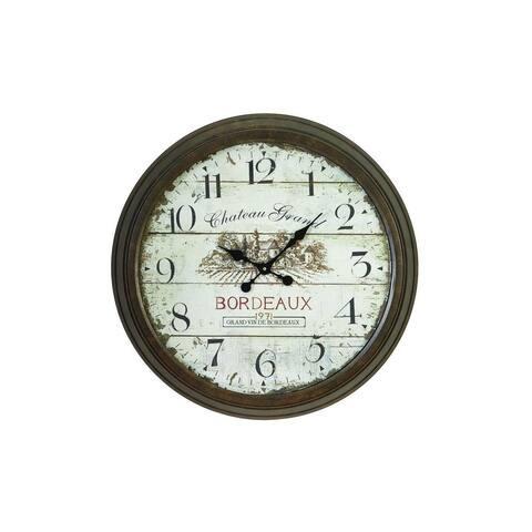 The Gray Barn Jartop Metal Wall Clock