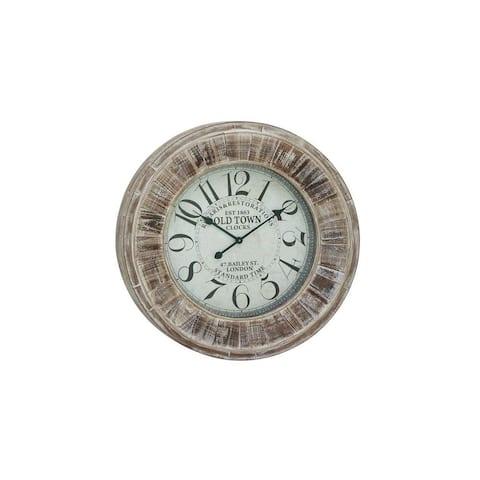 The Gray Barn Jartop Wood 31-inch Diameter Wall Clock