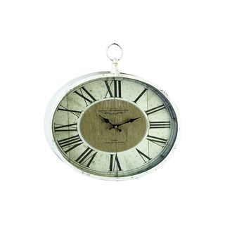 Metal 16-inch High x 18-inch Wide Wall Clock