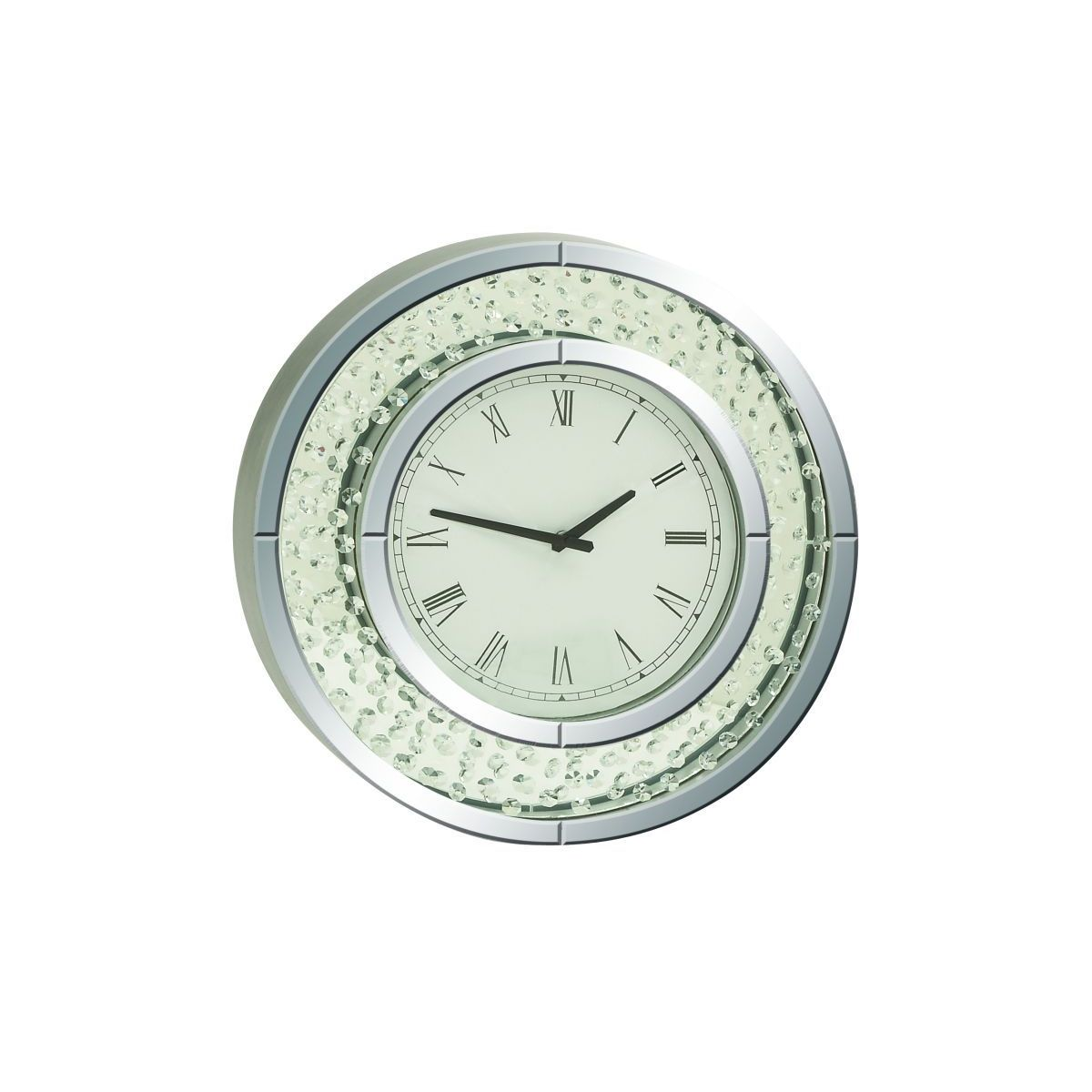 Shop Jeweled Glass Mirror Wall Clock Free Shipping On