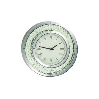 Jeweled Glass Mirror Wall Clock
