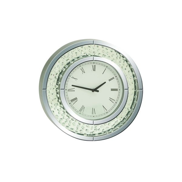 Mirror Wall Clock jeweled glass mirror wall clock - free shipping today - overstock