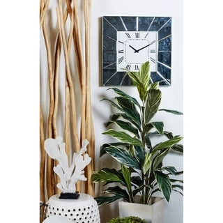 Wood Mirror Wall Clock