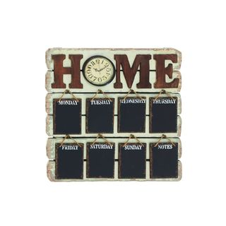 Wood 26-inch Memo Board Clock