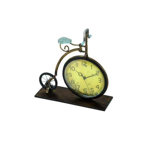 Copper Grove Star Metal Penny-farthing Bicycle Clock