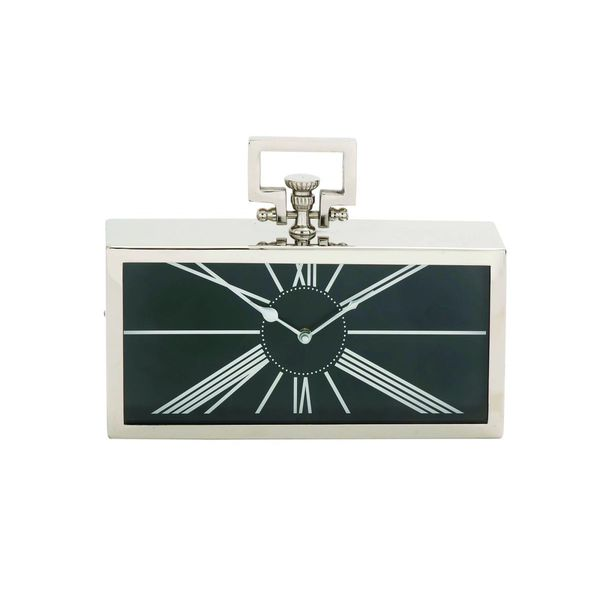 Metal 12-inch-wide x 9-inch-high Table Clock