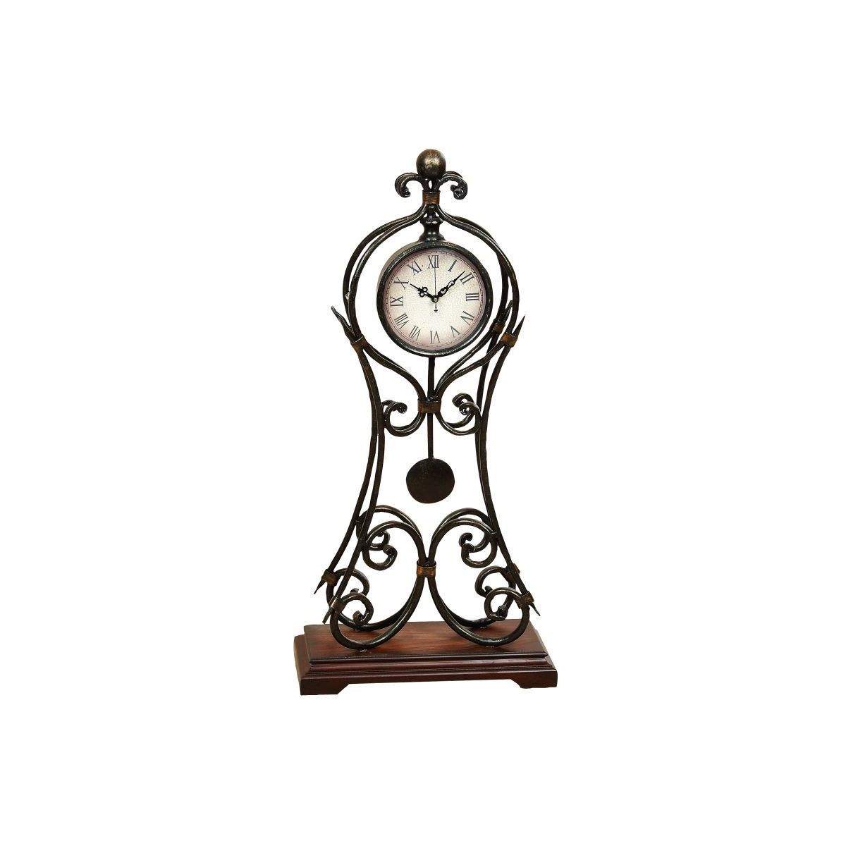 Metal 24-inches High x 11-inches Wide Clock