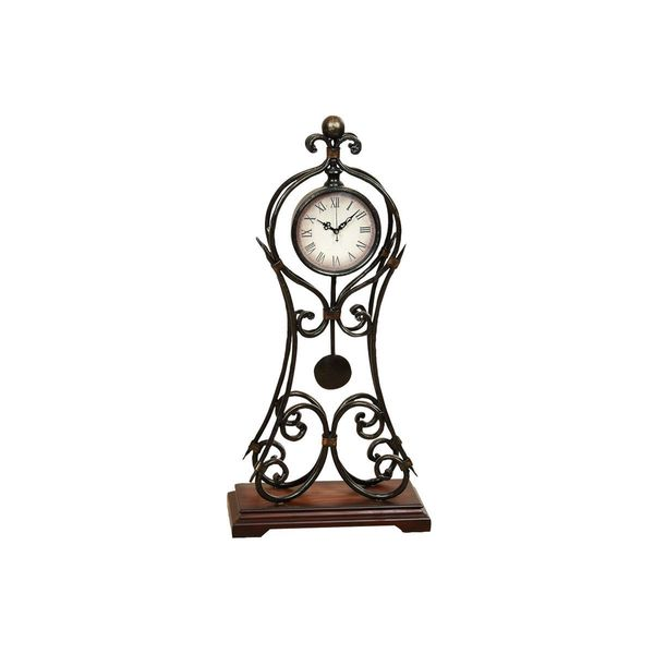 Gracewood Hollow Gladys Metal 24-inches High x 11-inches Wide Clock