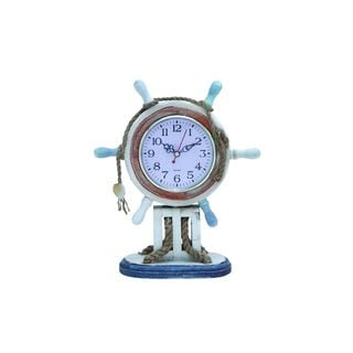 Wood and Rope 11-inch Nautical-themed Clock
