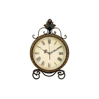 Metal 17-inch x 11-inch Clock