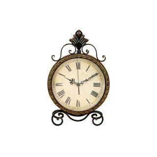 Copper Grove Chatfield Metal High-leg Base Clock 17 x 11 Inches