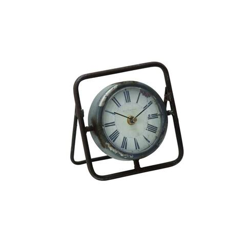 Carbon Loft Beulah Black Metal Clock