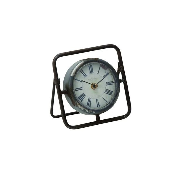 Black Metal 6-inch High x 6-inch Wide Clock