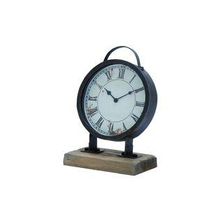 Rust-finish Fir/Iron 14-inch x 9-inch Clock