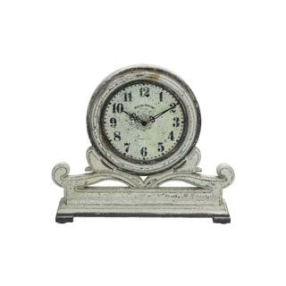 Stone Grey Mahogany 15-inch x 16-inch Table Clock