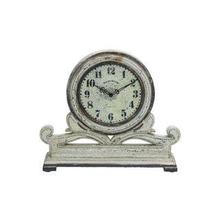 Copper Grove Chatfield Stone Grey Mahogany Table Clock