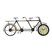 Copper Grove Chatfield Metal 8-inch x 20-inch Bicycle Table Clock