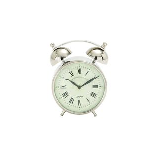 Old-Fashioned Stainless Steel Alarm Clock
