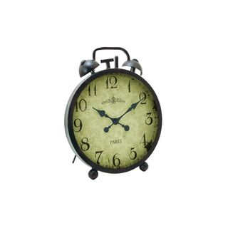 Black/Grey Metal Clock (21-inch x 25-inch)