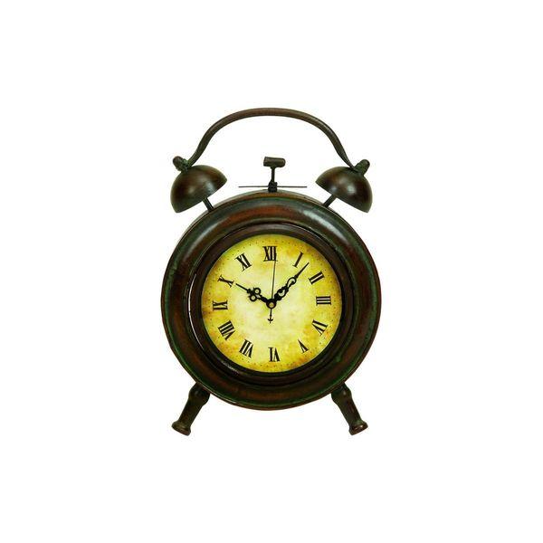 Copper Grove Star Multicolored Metal Clock