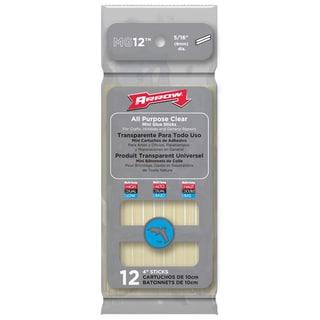 """Arrow Fastener MG12 12-count 4"""" All Purpose Mini Glue Sticks"""