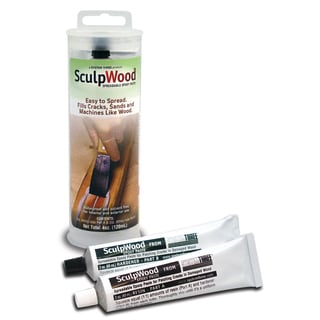 System Three 1610K05 4 Oz SculpWood Paste Kit 2-count