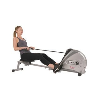 Sunny Health & Fitness SF-RW5606 Elastic Cord Rowing Machine Rower with LCD Monitor|https://ak1.ostkcdn.com/images/products/12175858/P19026702.jpg?impolicy=medium