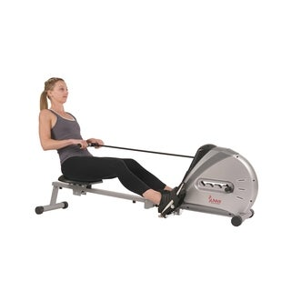 Sunny Health & Fitness SF-RW5606 Elastic Cord Rowing Machine Rower with LCD Monitor