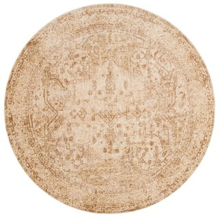 Contessa Ivory/ Light Gold Rug (5'3 x 5'3 Round)