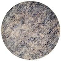 Contessa Mist/ Blue Rug (7'10 x 7'10 Round)