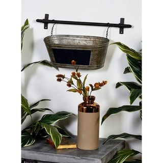 Metal 11-inch High x 24-inch Wide Wall Planter