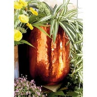 Set of 3 Modern 13, 16 and 21 Inch Round Copper Planters by Studio 350