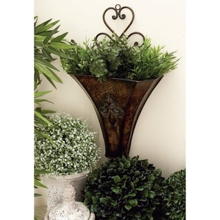 22-inch & 18-inch Metal Wall Planter Set of 2