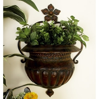 Dark Bronze Metal 18-inch x 12-inch Wall Planter
