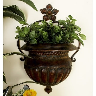 Link to Traditional 18 Inch Dark Bronze Vase-Shaped Wall Planter by Studio 350 Similar Items in Decorative Accessories