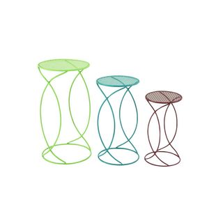 Blue/Red/Green Metal Contemporary Plant Stands