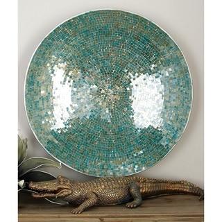 Blue Metal Mosaic Tile Wall Platter