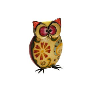 Metal 11-inch High x 8-inch Wide Owl