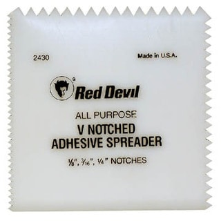 Red Devil 2430 Multi-Notch Plastic Adhesive Spreader