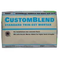 Custom Building Products CBTSG50 50 Lb Gray Custom Blend Thin-Set Mortar