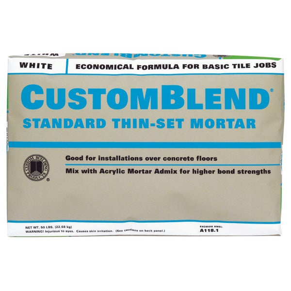 Shop Custom Building Products CBTSW Lb White Custom Blend Thin - Custom blend thin set mortar