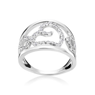 Andrew Charles 14k White Gold 1/3ct TDW Diamond Wide Band Ring (H-I, SI1-SI2)