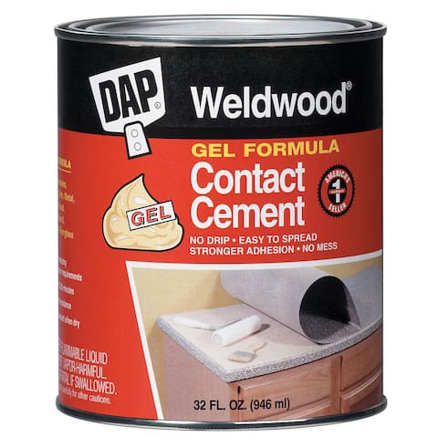 Dap 25312 1 Quart Weldwood Contact Cement Gel Formula