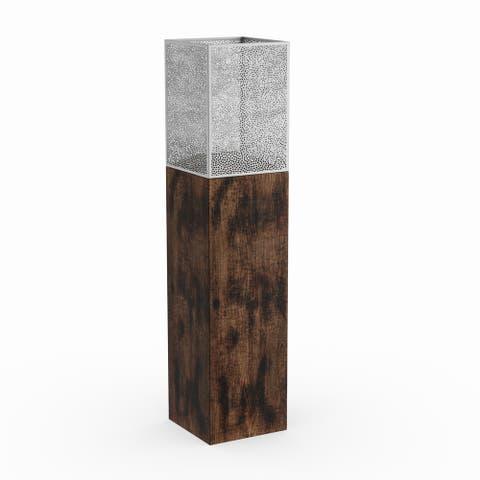Strick & Bolton Buri Wood/ Iron Candle Holder