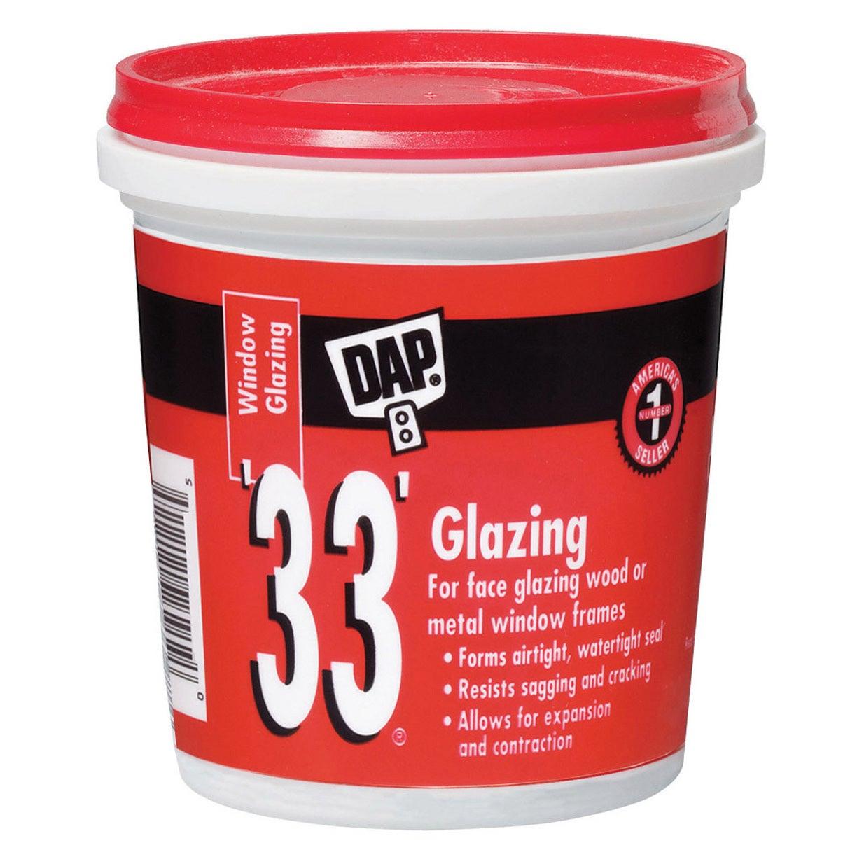 Dap 12120 1/2 Pint 33 Glazing Compound White Half Pint (M...