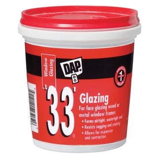 Dap 12120 1/2 Pint 33 Glazing Compound White Half Pint