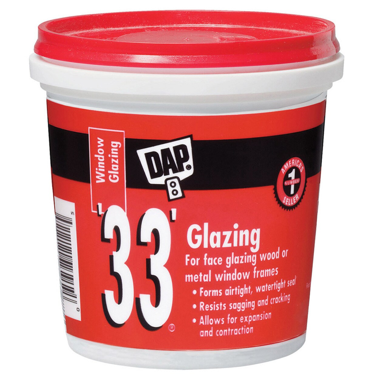 DAP 12121 1 Pint 33 Glazing Compound White Pint (Mirrors ...