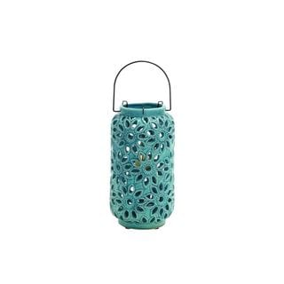 Ceramic Floral Style Candle Lantern
